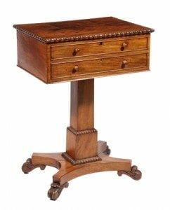 19th Century Mahogany Work Table