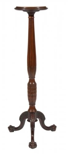19th Century Mahogany Torchiere