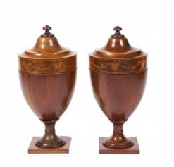 Pair of Gillows Mahogany Urns