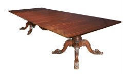 Early 19th Century Regency Irish Georgian Mahogany Dining Table