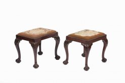 Early 19th Century Irish Mahogany Pair of Stools