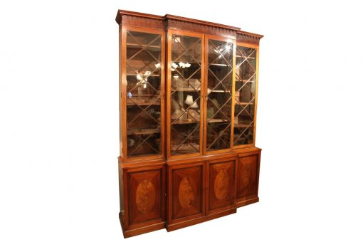 18th Century George III Breakfront Bookcase