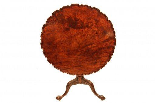 18th Century Mahogany Tip-Up Table