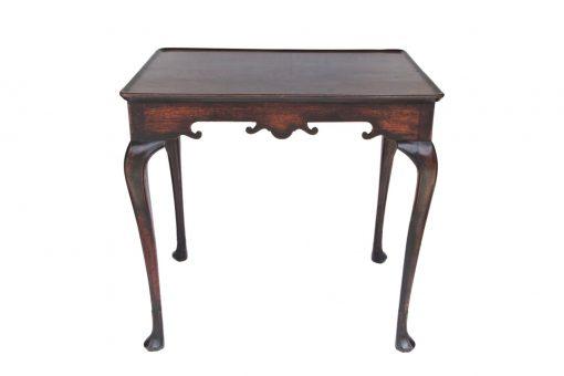 18th Century George III Irish Mahogany Silver Table