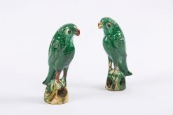 9189 - Early 19th Century Pair of Ceramic Incense Burners in the Form of Parrots