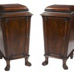 Early 19th Century Regency Pair of Mahogany Pedestal Cabinets