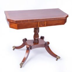 Early 19th Century William IV Mahogany Pedestal Card Table