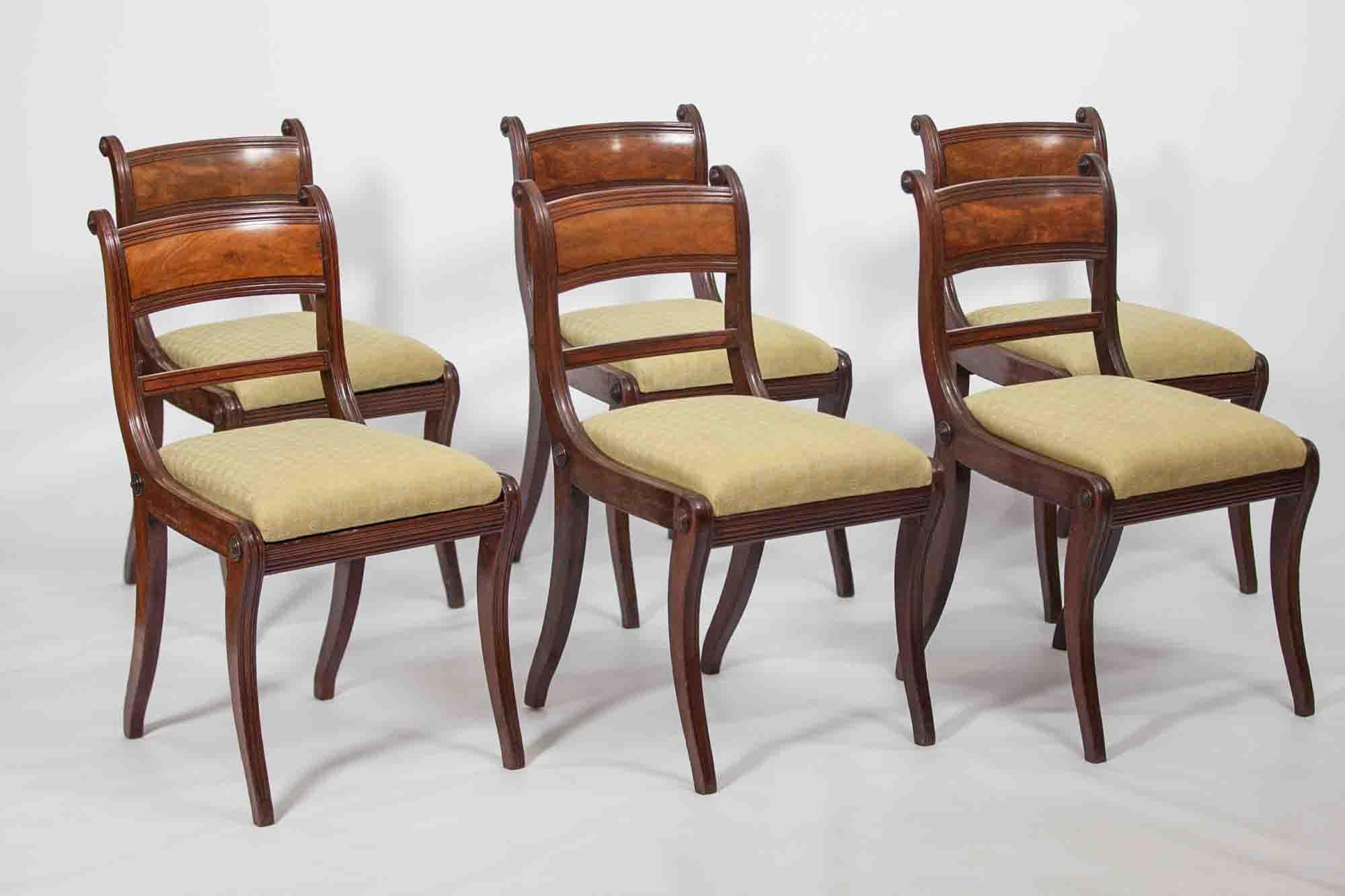9284 19th Century Regency Set Of Six Dining Chairs O Sullivan Antiques
