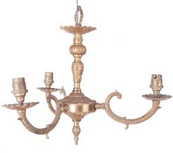 19th Century William IV Gilded Metal Hanging Light