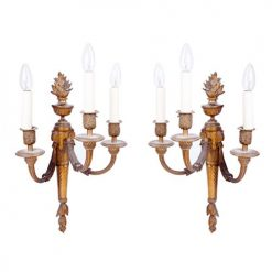 Early 19th Century George III Pair of Ormolu Wall Sconces