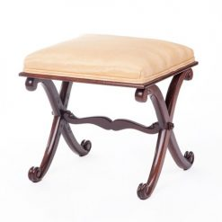 19th Century Mahogany X Frame Stool