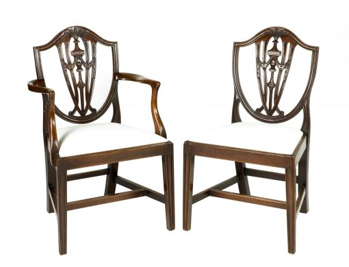 Early 19th Century Set of Eight Hepplewhite Chairs