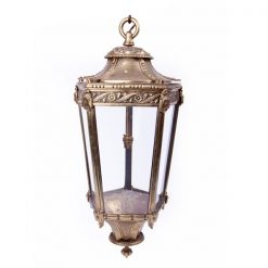19th Century Brass Hexagonal Lantern