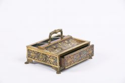 9421 - 19th Century Boullework Desk Tidy with Inkwell