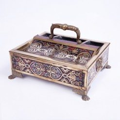 19th Century Boulle Work Inkwell