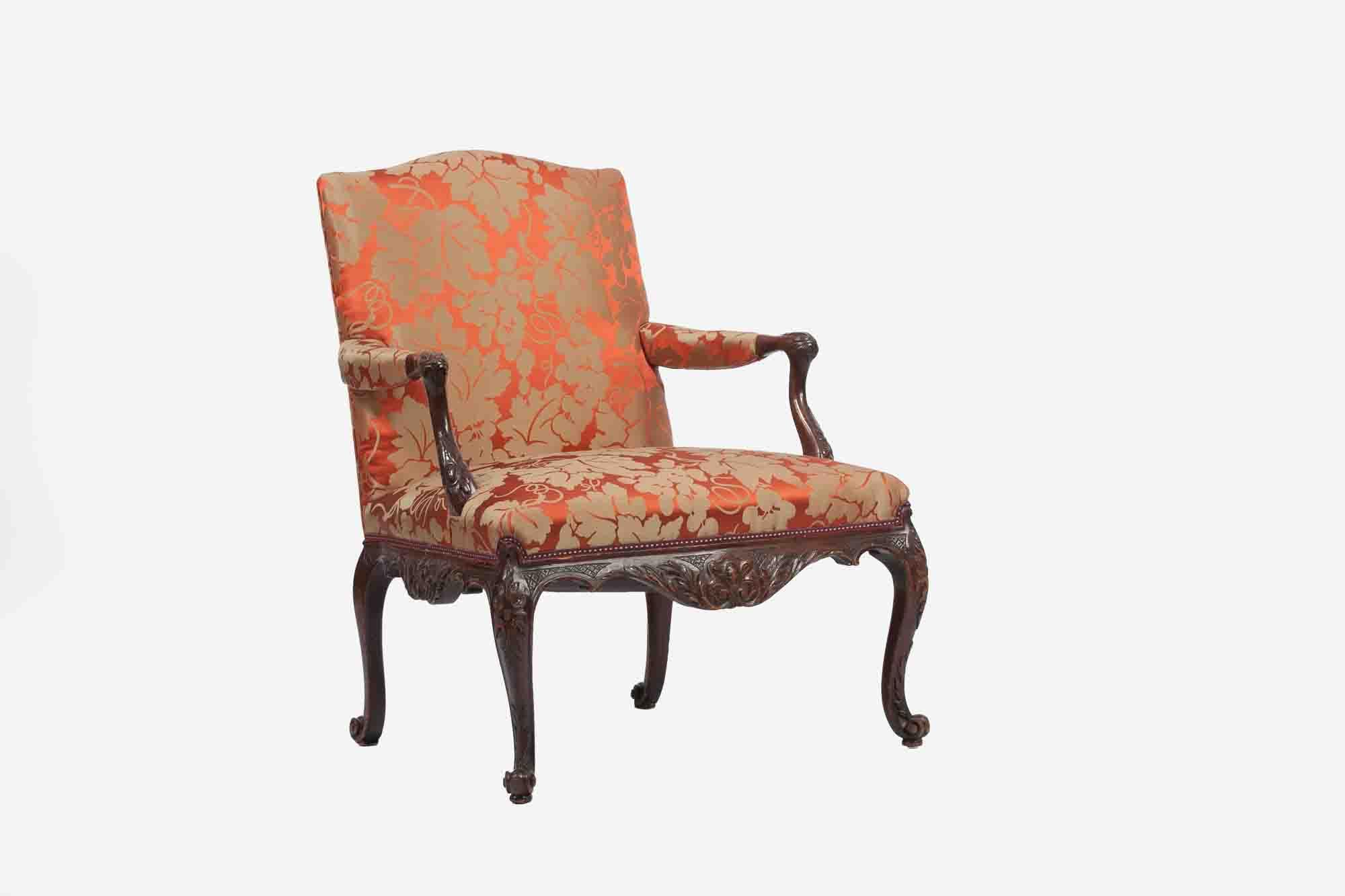 9433 18th Century Mahogany Library Chair O 39 Sullivan Antiques