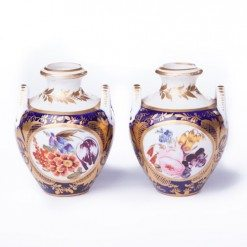 19th Century Pair of Miniature Derby Vases