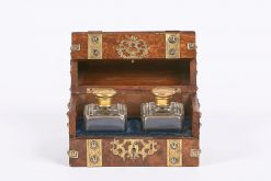9477 - Mid 19th Century Walnut Casket with Scent Bottles