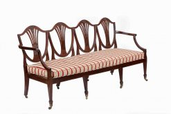 19th Century Hepplewhite Style Shield Back Settee