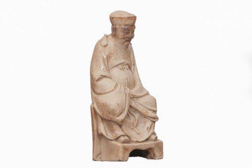 17th Century Blanc de Chine Figure of Tudi