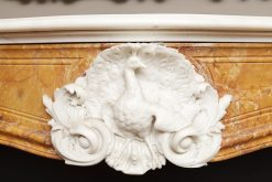 18th Century George II Statuary Marble Fire Surround, Isaac Ware