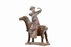 17th Century Chinese Ming Dynasty Figure of Archer on Horseback