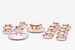19th Century Coalport Porcelain Raspberry and Gilt Tea Service