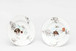 20th Century Pair of Paris Porcelain Plates