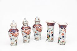 19th Century Set of Five Chinese Porcelain Vases and Urns