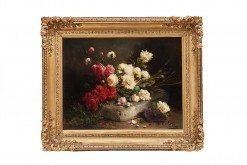 'Still Life Of Flowers' by Jos Klaas (Belguim, 1857-1927)