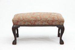 19th Century Irish Mahogany Upholstered Occasional Stool
