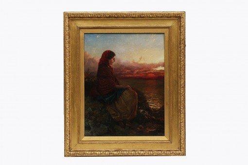 Edward John Cobbett (1815 - 1899) 'Distant Thoughts'