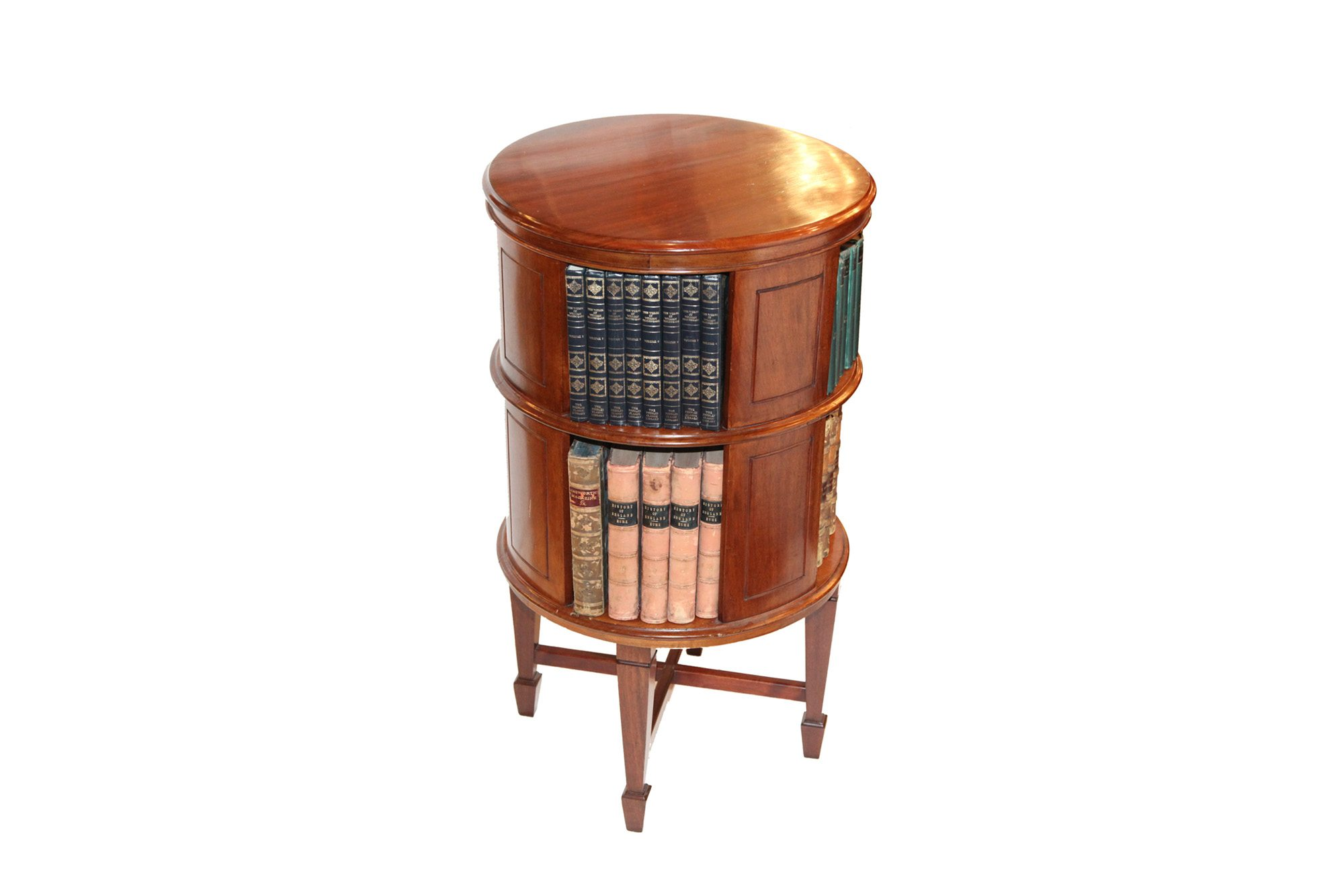 room living bookcase inadam units shop furniture revolving yew top or leather tier mahogany bookcases shelving scbc