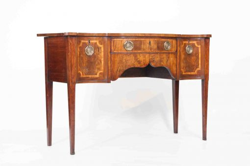 18th Century George III Walnut Serpentine Sideboard