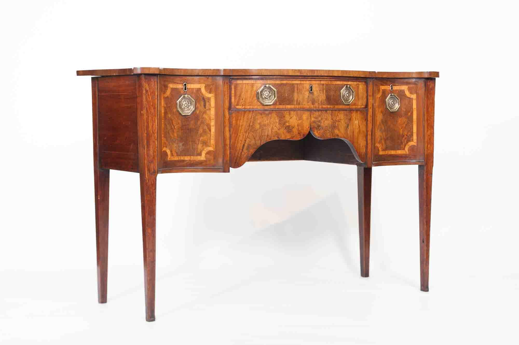 8176 18th Century George Iii Walnut Serpentine Sideboard O 39 Sullivan Antiques