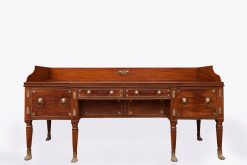 Early 19th Century Irish Regency Mahogany Brass Mounted Sideboard