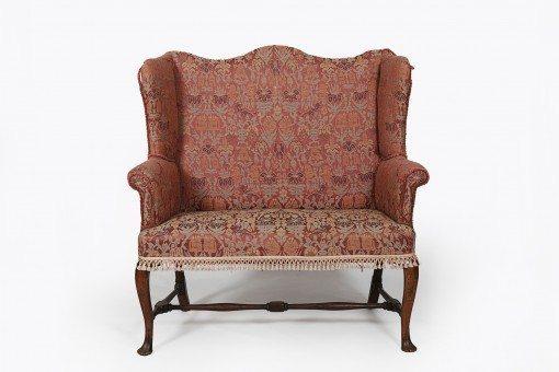 Early 18th Century Georgian Wing Back Two Seater Sofa