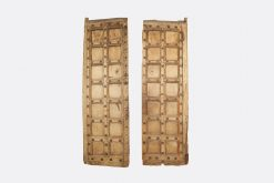 17th Century Pair of Indian Carved Wood Doors