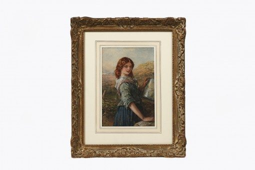 The Milkmaid, Francis William Topham (1808 - 1877)