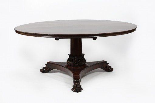 Early 19th Century Regency Mahogany Pedestal Dining Table