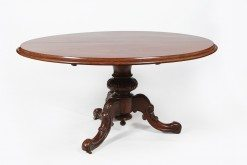 Early 19th Century Regency Oval Mahogany Tilt Top Supper Table