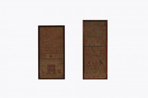 19th Century Pair of Needlework Samplers