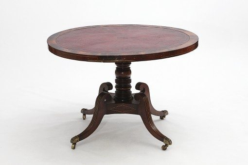 19th Century Regency Circular Library Table