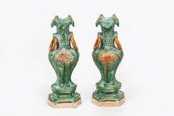 Mid 16th Century Pair of Ming Vases