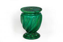 19th Century Minton Majolica Green Garden Seat