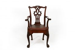 18th Century Georgian Irish Mahogany Carver