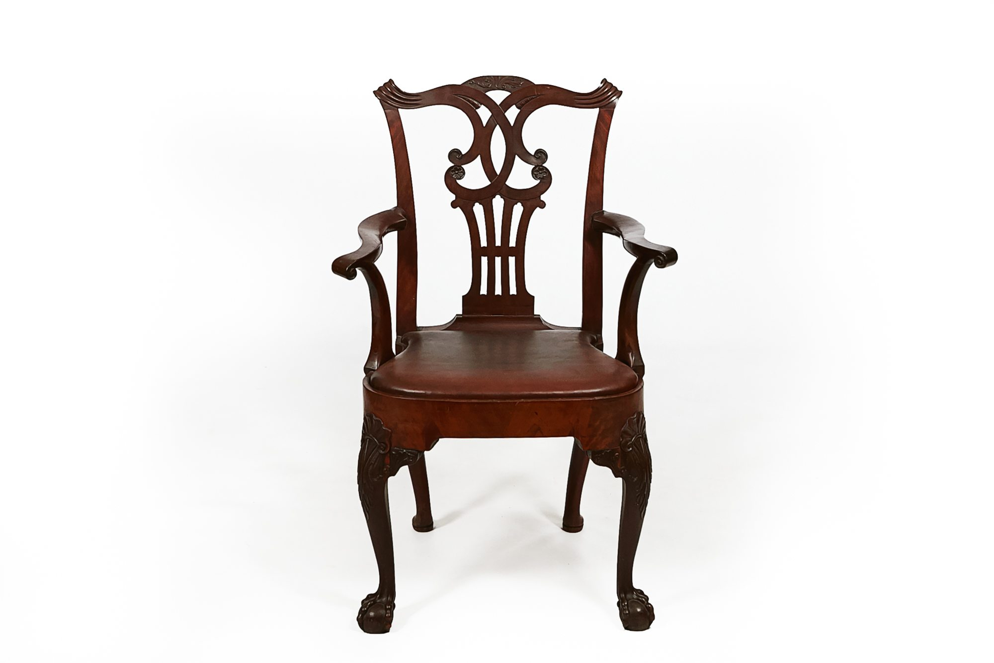 Tremendous 9864 18Th Century Georgian Irish Mahogany Carver O Machost Co Dining Chair Design Ideas Machostcouk