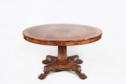 19th Century William IV Tilt Top Mahogany Dining Table