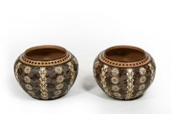 19th Century Pair of Doulton Lambeth Vases