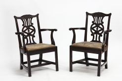 Late 18th Century Pair of Georgian Cuban Mahogany Carvers